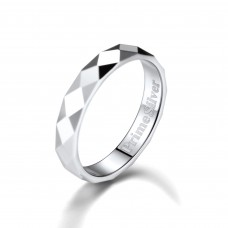 PrimeSilver Sterling Silver 3MM Minimalist Ring for Women Men Size 4-12 Can Engrave, Comfort Fit Wedding Engagement Band Rings with Delicate Brand Packaging
